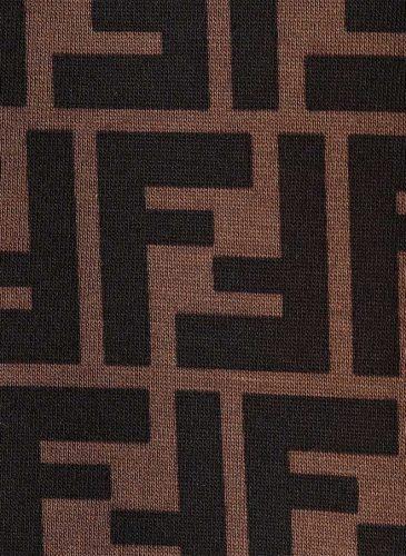 fendi-muddark-brown-Printed-Cotton-T-shirt