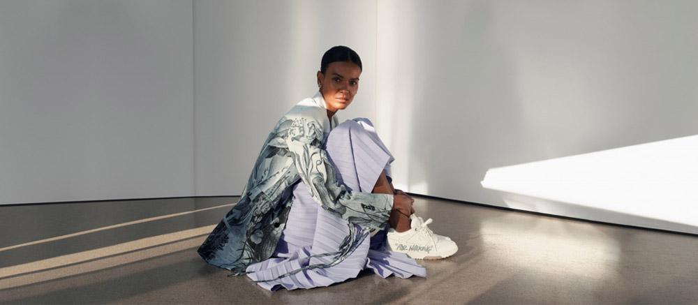 Off-White dhe Liya Kebede: versioni ideal i elegancës