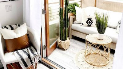 Stili bohemian në ballkonin tuaj